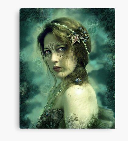 Mermaid Behind Her Mask Canvas Print