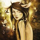 Fawn in Autumn Light by gingerkelly
