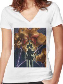 Yugioh Exodia Women's Fitted V-Neck T-Shirt