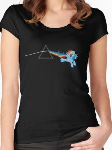 Rainbow Dash: Dark side of the moon (Brony) Women's Fitted Scoop T-Shirt