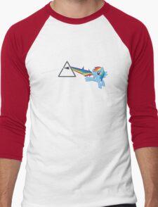 Rainbow Dash: Dark side of the moon (Brony) Men's Baseball ¾ T-Shirt