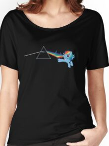 Rainbow Dash: Dark side of the moon (Brony) Women's Relaxed Fit T-Shirt