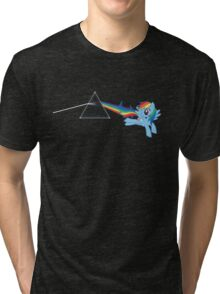 Rainbow Dash: Dark side of the moon (Brony) Tri-blend T-Shirt
