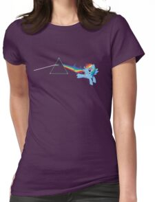 Rainbow Dash: Dark side of the moon (Brony) Womens Fitted T-Shirt