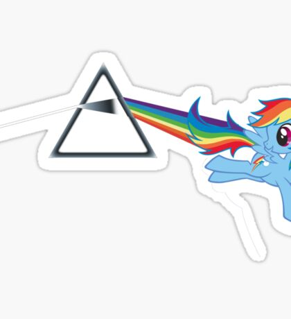 Rainbow Dash: Dark side of the moon (Brony) Sticker