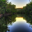 Still water on the Murray River twilight by BigAndRed