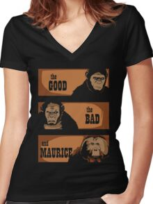 The good, the bad and Maurice Women's Fitted V-Neck T-Shirt