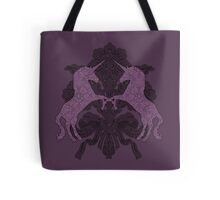 Fancy Aubergine Unicorns Tote Bag
