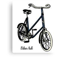 "Vintage 30s blue Bike ""biker kid"" Canvas Print"