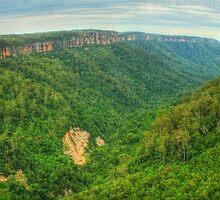 Kangaroo Valley panorama by Michael Matthews