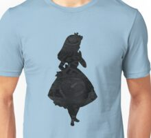 Alice in Wonderland , Black Picture Silhouette Unisex T-Shirt