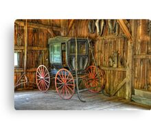 Wagon lost in storage Canvas Print