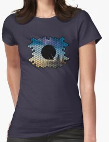 Quindustries R&D Logo City to Space Womens Fitted T-Shirt