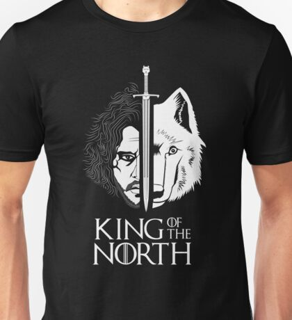 White Wolf Snow King of The North Unisex T-Shirt