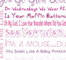 Mean Girls Best Quotes Sticker