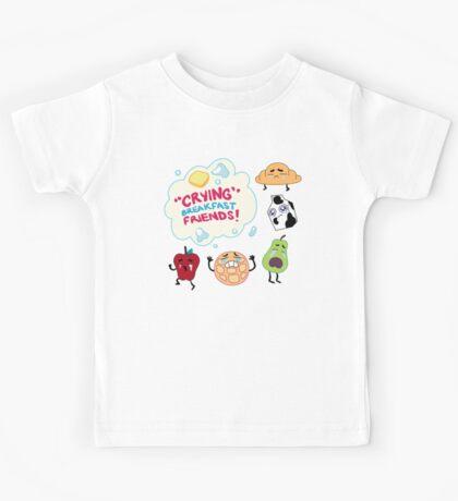"""""""Crying"""" Breakfast Friends! // Steven Universe Kids Tee"""
