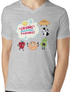 """Crying"" Breakfast Friends! // Steven Universe Mens V-Neck T-Shirt"