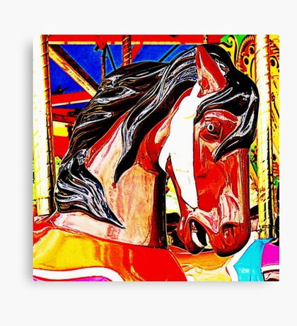 Carousel Colt Canvas Print