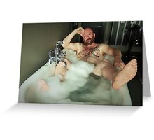 TROY T SCOTT - IN THE TUB Greeting Card