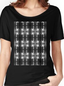 white bleeding hearts, black and white #2 pattern Women's Relaxed Fit T-Shirt