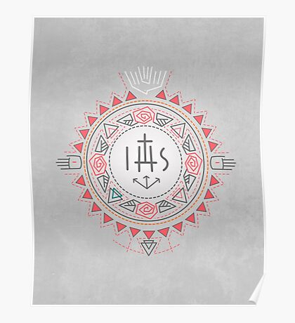 Religious symbols composition Poster