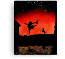 dance like theres no one around Canvas Print