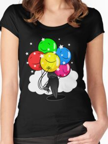In the Shadow of Balloons Women's Fitted Scoop T-Shirt