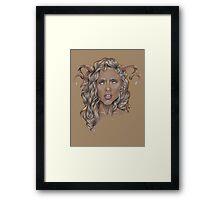 Aries ♈ Astrological Fantasy Portrait Framed Print