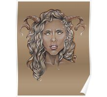 Aries ♈ Astrological Fantasy Portrait Poster