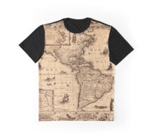 Map Of America 1622 Graphic T-Shirt