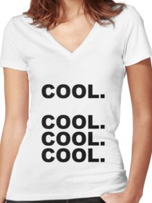 Cool cool cool Women's Fitted V-Neck T-Shirt