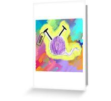 hipster yarn ball Greeting Card