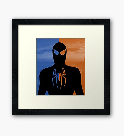 Spider Man - Day And Night Hero NY Framed Print