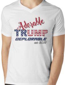 Original Adorable Deplorable | TRUMP SUPPORTER  Mens V-Neck T-Shirt