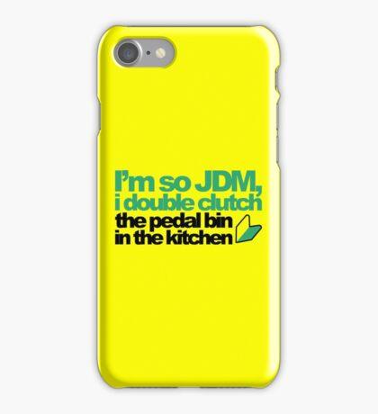 I'm so JDM, i double clutch the pedal bin (4) iPhone Case/Skin