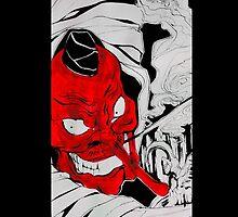 Red Tengu by Erzdaemon