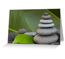 Stone cairn Greeting Card