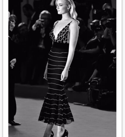 sophie turner black and white  Sticker