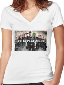 The Deplorables Women's Fitted V-Neck T-Shirt