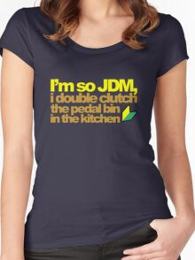I'm so JDM, i double clutch the pedal bin (6) Women's Fitted Scoop T-Shirt