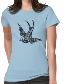 Ornate Swallow (Right) Womens Fitted T-Shirt