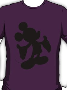 Black Mickey Mouse Silhouette T-Shirt
