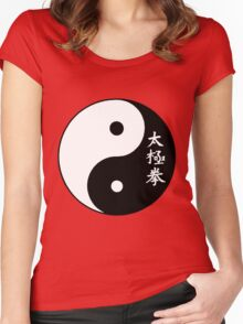 Tai-Chi Yin and Yang Women's Fitted Scoop T-Shirt