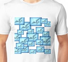 Paper Crane Collage Unisex T-Shirt