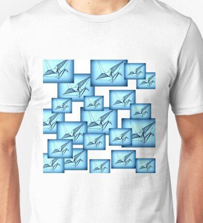 Paper Crane Collage Unisex T-Shirt