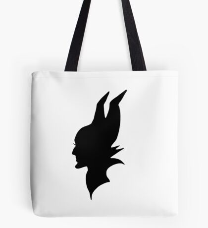 Black Maleficent Silhouette Tote Bag