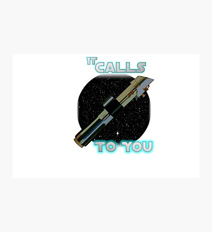 Star Wars VII The Force Lightsaber Photographic Print