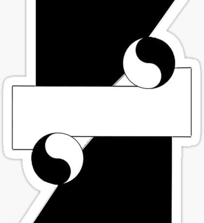 Aikido Yin and Yang Sticker