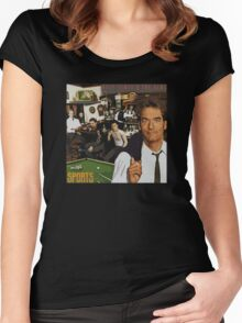 """Huey Lewis - Sports (the perfect thing for the next """"Sports"""" day at work/school) Women's Fitted Scoop T-Shirt"""