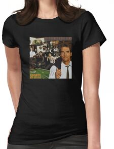 "Huey Lewis - Sports (the perfect thing for the next ""Sports"" day at work/school) Womens Fitted T-Shirt"